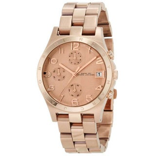Marc Jacobs Women's MBM3074 'Henry' Chronograph Rose Goldtone Watch