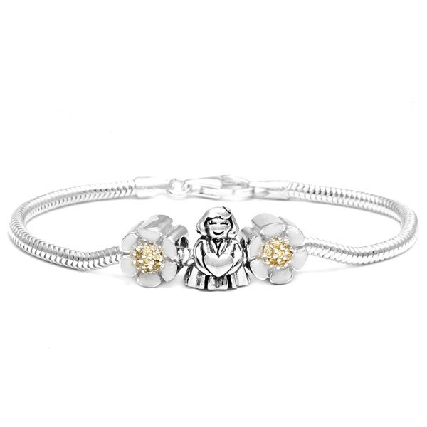 Sterling Silver Girl/Heart Bracelet