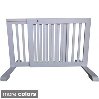 Free-standing Adjustable Wood Pet Gate