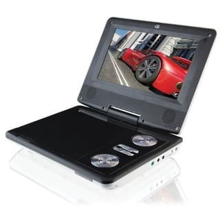 "GPX PD701W Portable DVD Player - 7"" Display - White