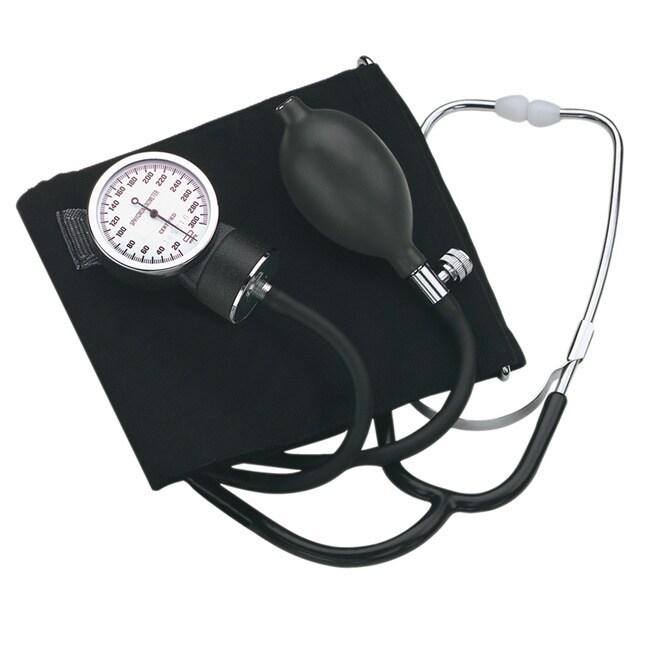 Healthsmart Adult Self-Taking Home Blood Pressure Kit, Black