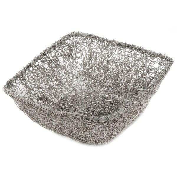 11-inch Square Twist Wire Mesh Basket