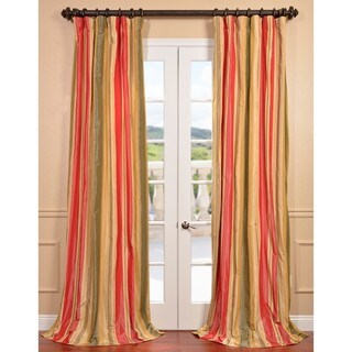 Exclusive Fabrics Orleans Faux Silk Taffeta Stripe Curtain