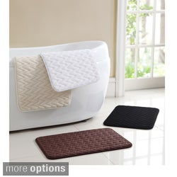 VCNY Zigzag Set of Two Memory Foam Bath Mats - 1'5 x 2'