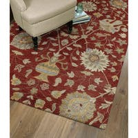 Christopher Kashan Hand-tufted Red Rug - 9' x 12'