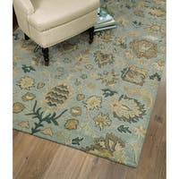 Christopher Kashan Hand-tufted Light Blue Rug (10' x 14') - 10' x 14'