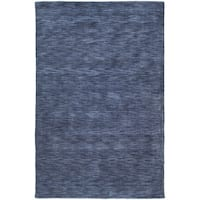 Gabbeh Hand-tufted Blue Rug - 5' x 7'6