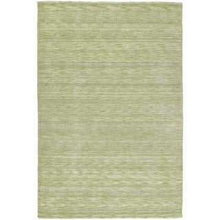 Gabbeh Hand-tufted Green Rug (7'6 x 9')