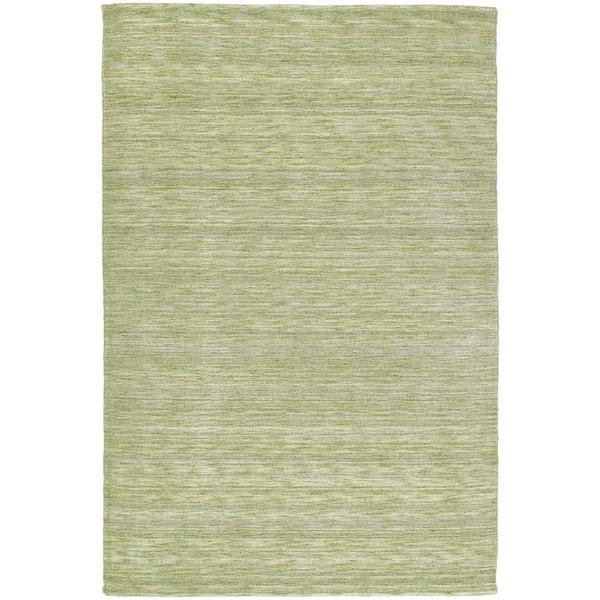 Gabbeh Hand-tufted Green Rug - 7'6 x 9'