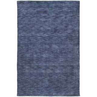 Gabbeh Hand-tufted Blue Rug (7'6 x 9')