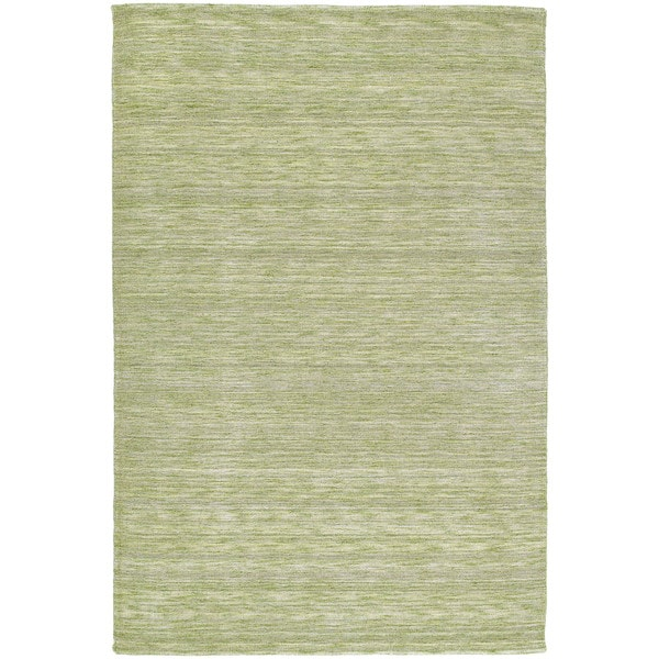 Gabbeh Hand-tufted Green Rug (9'6 x 13')