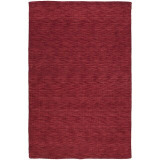 Gabbeh Hand-tufted Red Rug (7'6 x 9')