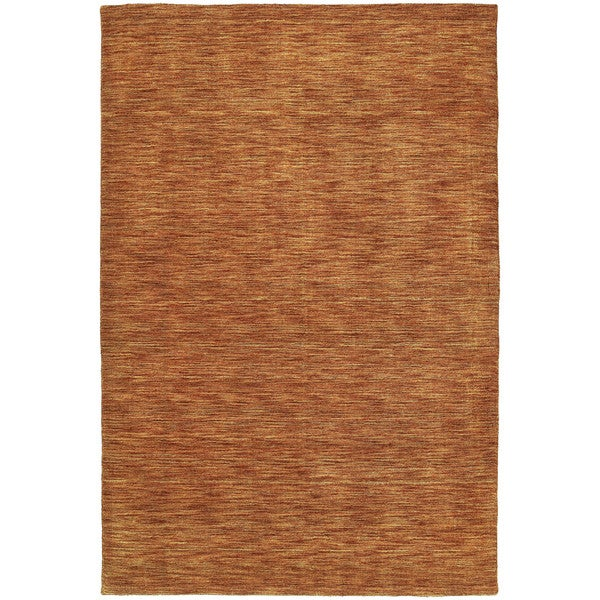 Gabbeh Hand-tufted Paprika Rug - 5' x 7'6