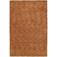Gabbeh Hand-tufted Paprika Rug (9'6 x 13')