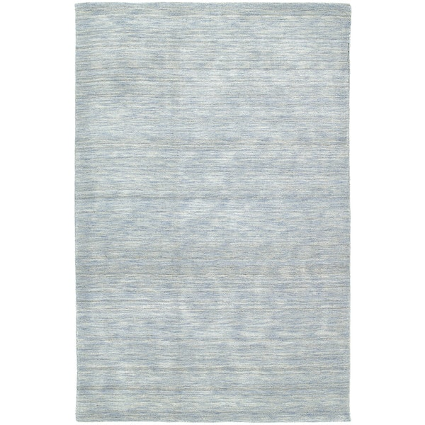 Gabbeh Hand Tufted Light Blue Rug 5 X27