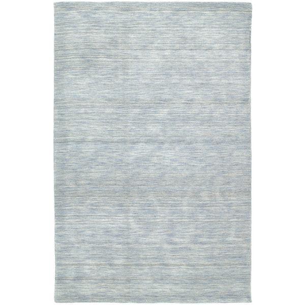 Gabbeh Hand-tufted Light Blue Rug (9'6 x 13')