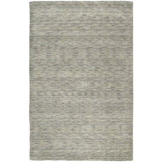 "Gabbeh Hand-tufted Grey Rug (9'6 x 13') - 9'6"" x 13'"