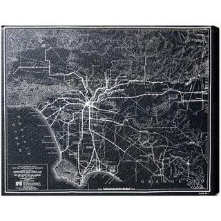 Oliver Gal 'LA Rapid Transit Map 1925' Canvas Art