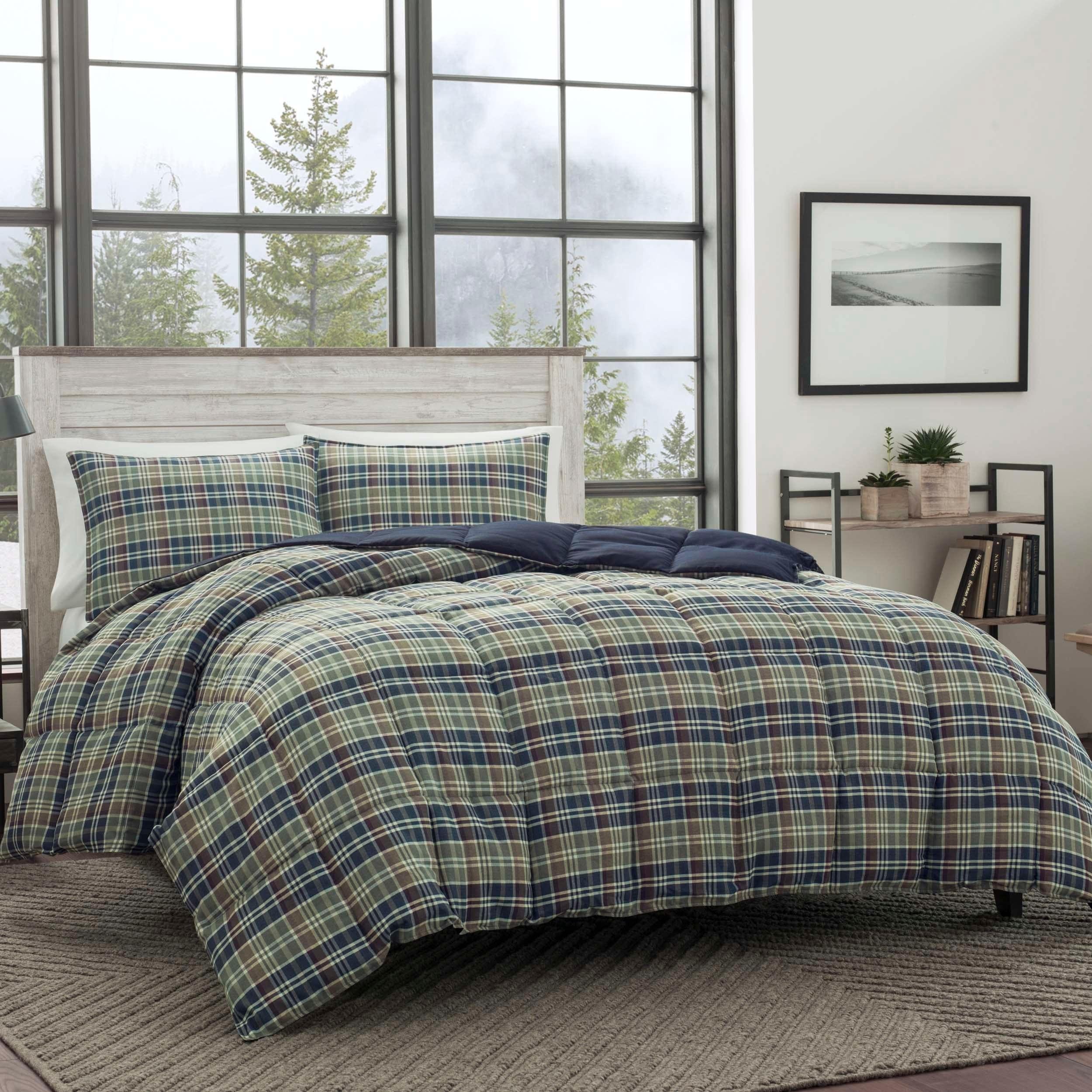 Eddie Bauer Rugged Plaid 3 Piece Down Alternative Comforter Set On Sale Overstock 8377823