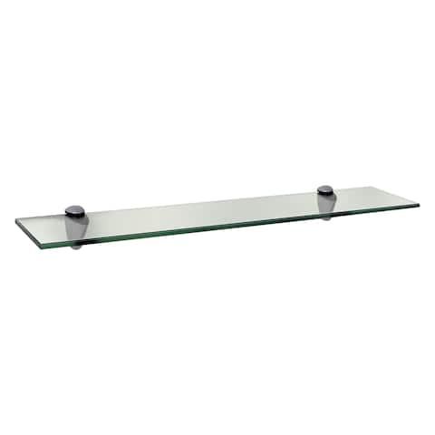 18 x 4-inch Clear Glass Legacy Shelf