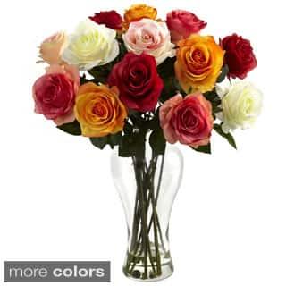 Assorted Blooming Roses/ Vase|https://ak1.ostkcdn.com/images/products/8377884/Assorted-Blooming-Roses-Vase-P15682673.jpg?impolicy=medium