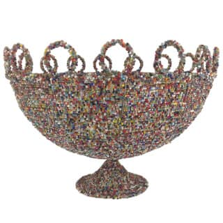 Round Multicolor Beaded Decorative Basket|https://ak1.ostkcdn.com/images/products/8377899/P15682581.jpg?impolicy=medium