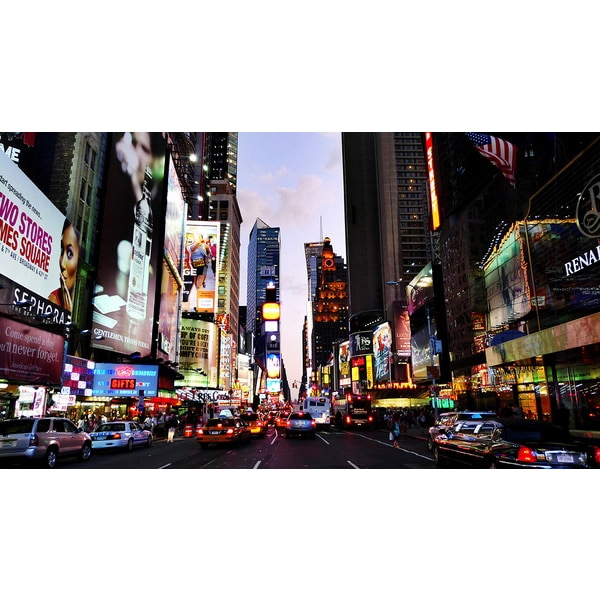 'Times Square, New York City, USA' Photography Canvas Print Wall Art
