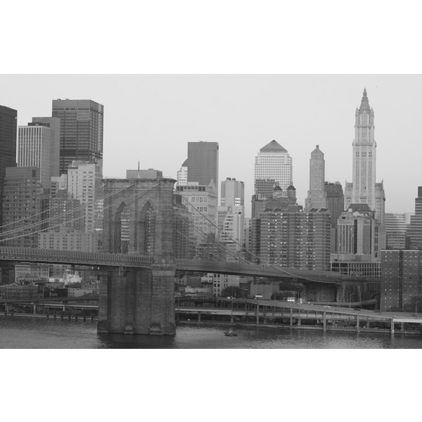 'New York City Black And White' Photography Canvas Print