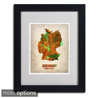 Naxart 'Germany Watercolor Map' Framed Matted Art