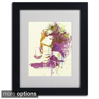 Naxart 'Challenger Girl' Framed Matted Art