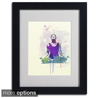 Naxart 'Meditating Mind' Framed Matted Art