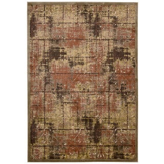 kathy ireland Bel Air Americana Montecito Brown Area Rug by Nourison (7'9 x 9'9)