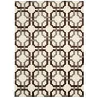 Waverly Artisanal Delight Groovy Grille Tobacco Area Rug by Nourison - 4' x 6'