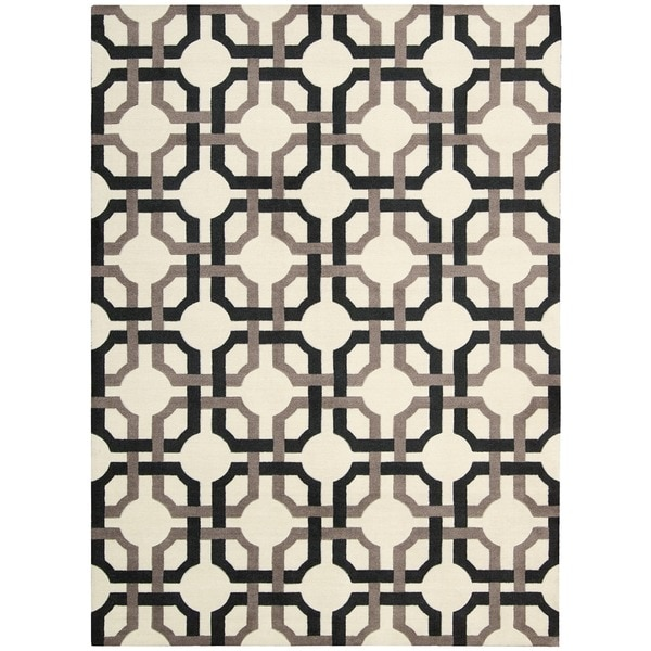Waverly Artisanal Delight Groovy Grille Licorice Area Rug by Nourison (5' x 7') - 5' x 7'
