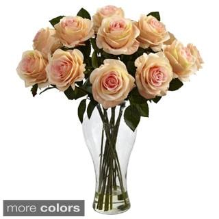 Blooming Roses/ Vase