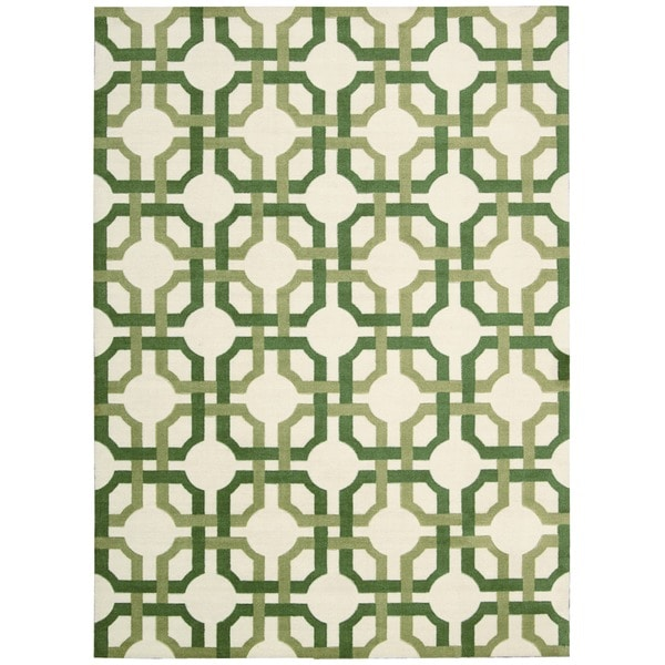 Waverly Artisanal Delight Groovy Grille Leaf Area Rug by Nourison (5' x 7') - 5' x 7'