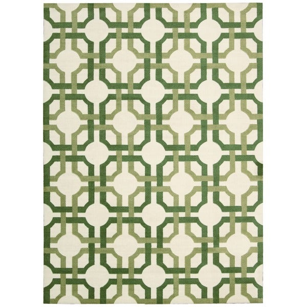 Waverly Artisanal Delight Groovy Grille Leaf Area Rug by Nourison (8' x 10')