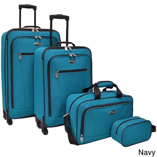 U.S. Traveler Castelon 4-piece Spinner Luggage Set