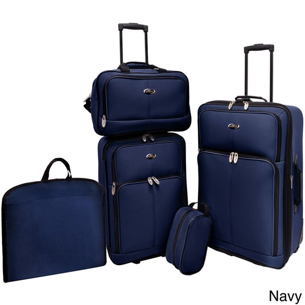 U.S. Traveler San Reno 5-piece Luggage Set