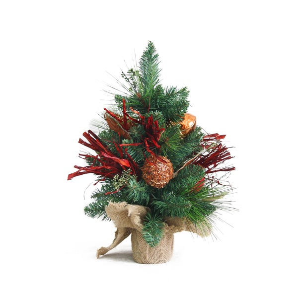 Shop 18-inch Potted Tree and Ornament - Free Shipping On Orders Over $45 - Overstock.com - 8378126