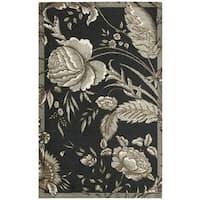 Waverly Artisanal Delight Fanciful Noir Area Rug by Nourison (4' x 6') - 4' x 6'