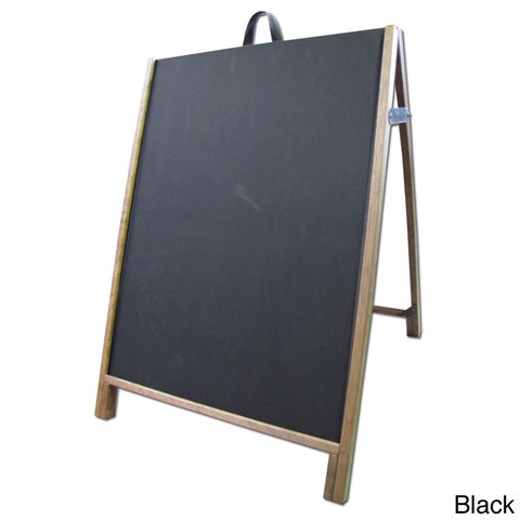 Wood Sidewalk A-Frame Chalkboard Message Sign