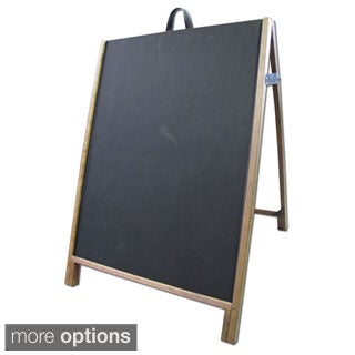 Wood Sidewalk A-Frame Chalkboard Message Sign