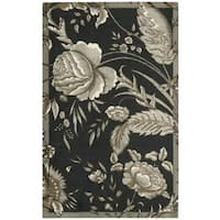 Waverly Artisanal Delight Fanciful Noir Area Rug by Nourison - 5' x 7'