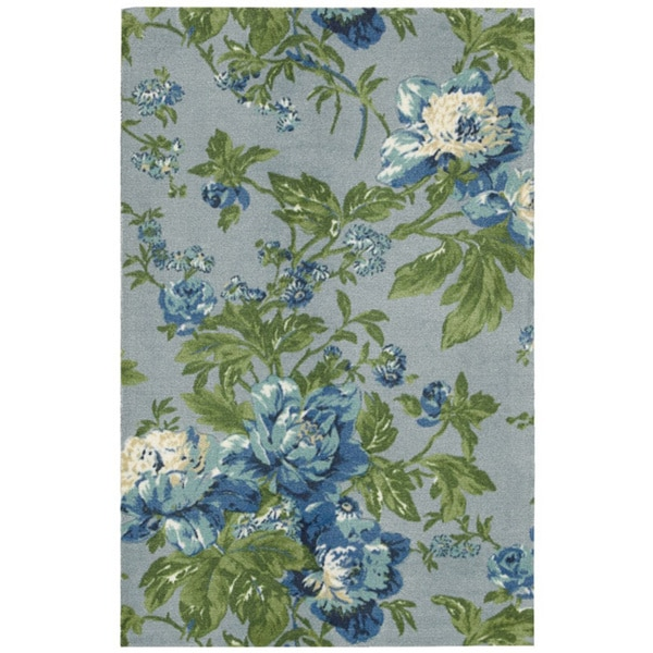 Waverly Artisanal Delight Forever Yours Sky Area Rug by Nourison - 8' x 10'