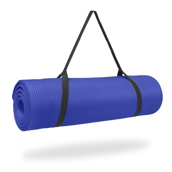 Pure Fitness 1/2 inch Ultra Thick NBR Exercise Mat - Iris - Blue - 68x24