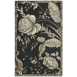 Waverly Artisanal Delight Fanciful Noir Area Rug by Nourison (2'6 x 4')
