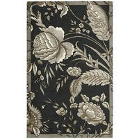 Waverly Artisanal Delight Fanciful Noir Area Rug by Nourison (2'6 x 4') - 2'6 x 4'