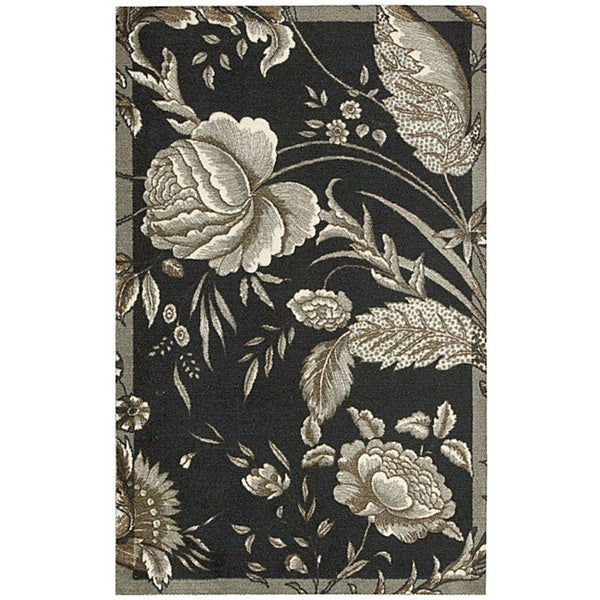 Waverly Artisanal Delight Fanciful Noir Area Rug by Nourison - 2'6 x 4'