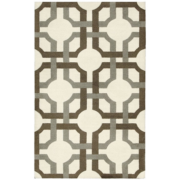 Waverly Artisanal Delight Groovy Grille Tobacco Area Rug by Nourison (2'6 x 4')